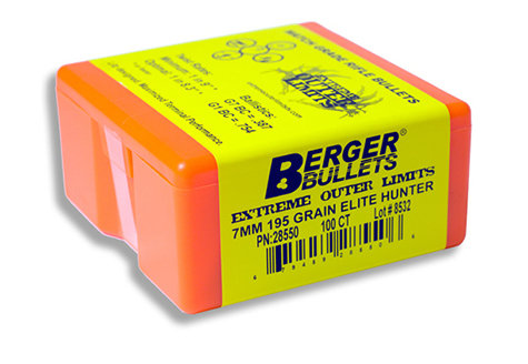 Berger 7mm 195g EOL Elite Hunter 28550